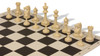 Master Series Plastic Chess Set Black & Tan Pieces with Black Roll-up Chess Board