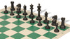 Master Series Plastic Chess Set Black & Tan Pieces with Green Roll-up Chess Board