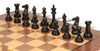 "New Exclusive Staunton Chess Set Ebonized & Boxwood Pieces with Classic Walnut Chess Board - 3"" King"