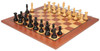 "New Exclusive Staunton Chess Set Ebonized & Boxwood Pieces with Classic Mahogany Chess Board  - 3.5"" King"