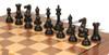 "New Exclusive Staunton Chess Set Ebonized & Boxwood Pieces with Classic Walnut Chess Board - 3.5"" King"