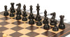 "New Exclusive Staunton Chess Set Ebonized & Boxwood Pieces with Classic Macassar Ebony Chess Board- 4"" King"