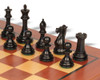 "New Exclusive Staunton Chess Set Ebonized & Boxwood Pieces with Classic Mahogany Chess Board  - 4"" King"
