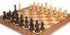"New Exclusive Staunton Chess Set Ebonized & Boxwood Pieces with Classic Walnut Chess Board - 4"" King"