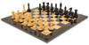 "New Exclusive Staunton Chess Set Ebony & Boxwood Pieces with Black & Ash Burl Chess Board - 3.5"" King"
