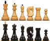 "Yugoslavia Staunton Chess Set with Ebony & Boxwood Pieces - 3.25"" King"