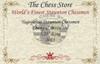 "Yugoslavia Staunton Chess Set Ebony and Boxwood Pieces 3.25"" King Certificate"