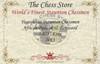 "Yugoslavia Staunton Chess Set Padauk and Boxwood Pieces 3.875"" King Certificate"