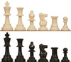 "Standard Club Plastic Chess Set Black & Ivory Pieces - 3.75"" King"