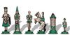 Small Camelot Theme Hand Painted Metal Chess Set by Italfama