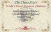 "Patton Staunton Chess Set Padauk and Boxwood Pieces 4.25"" King Certificate"