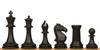ProTourney Carry-All Plastic Chess Set Black & Camel Pieces with Black Roll-up Chess Board & Bag