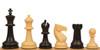 "Guardian Plastic Chess Set Black & Camel Pieces - 4"" King"