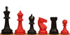 """Guardian Plastic Chess Set Black & Red Pieces - 4"""" King"""