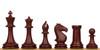 "ProTourney Plastic Chess Set Burgundy & Camel Pieces - 3.75"" King"