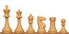 "Club Tourney Plastic Chess Set Black & Camel Pieces - 3.75"" King"