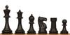 "ClubTourney Plastic Chess Set Black & Camel Pieces - 3.75"" King"