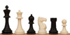 "Club Tourney Plastic Chess Set  Black & Ivory Pieces  - 3.75"" King"