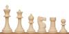 "Club Tourney Plastic Chess Set  Black & Ivory Pieces  - 3.75"" King"