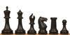 "Zukert Plastic Chess Set Black & Camel Pieces - 4.25"" King"