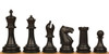 "Zukert Plastic Chess Set Black & Ivory Pieces - 4.25"" King"