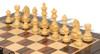 "German Knight Staunton Chess Set Ebonized and Boxwood Pieces 3.25"" King with Macassar Ebony Chess Board Boxwood Zoom"