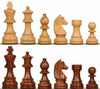 "German Knight Staunton Chess Set with Golden Rosewood & Boxwood Pieces - 2.75"" King"
