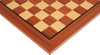 "Mahogany & Maple Classic Chess Board with 2"" Squares Closeup"