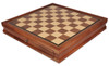 "Deluxe Two Drawer Walnut Chess Case with 2"" Squares"