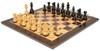 "French Lardy Staunton Chess Set Ebonized and Boxwood Pieces with Classic Macassar Ebony Chess Board 2.75"" King - View 2"