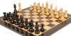 "French Lardy Staunton Chess Set Ebonized and Boxwood Pieces with Classic Macassar Ebony Chess Board 3.25"" King - Zoom 1"