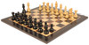 "French Lardy Staunton Chess Set Ebonized and Boxwood Pieces with Classic Macassar Ebony Chess Board 3.75"" King - View 1"