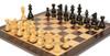 "French Lardy Staunton Chess Set Ebonized and Boxwood Pieces with Classic Macassar Ebony Chess Board 3.75"" King - Zoom 2"