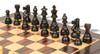 """French Lardy Staunton Chess Set Ebonized and Boxwood Pieces with Classic Macassar Ebony Chess Board 3.75"""" King - Ebonized Zoom"""