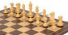 "Deluxe Old Club Staunton Chess Set Ebonized & Boxwood Pieces with Classic Macassar Ebony Chess Board - 3.25"" King"