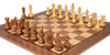 "Yugoslavia Staunton Chess Set Golden Rosewood & Boxwood Pieces with Classic Walnut Chess Board - 3.875"" King"
