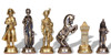 Large Napoleon Theme Metal Chess Set by Italfama