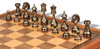 Large Classic Staunton Solid Brass Chess Set with Walnut Chess Case