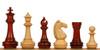 """Khan's Stallion Staunton Chess Set in African Padauk & Boxwood - 4.25"""" King"""