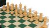 Zukert Series Deluxe Bag Chess Set Package Black & Camel Pieces - Green