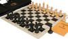 Zukert Series Deluxe Bag Chess Set Package Black & Camel Pieces - Black