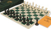 Executive Sereis Deluxe Bag Chess Set Package Black & Ivory Pieces - Green