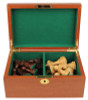Mahogany Chess Piece Box With Green Baize Lining- Medium