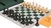 Zukert Series Jumbo-Floppy Chess Set Package Black & Camel Pieces - Green
