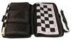 Zukert Series Jumbo-Floppy Chess Set Package Black & Camel Pieces - Black