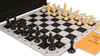 Professional Jumbo-Floppy Chess Set Package Black & Camel Pieces - Black