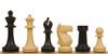 "Park Game Series Plastic Chess Set Black & Sandal Pieces - 3.75"" King"