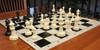 Guardian Carry-All Plastic Chess Set Black & Ivory Pieces with Black Roll-up Chess Board & Bag