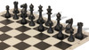 Park Game Carry-All Plastic Chess Set Black & Sandal Pieces with Black Roll-up Chess Board & Bag