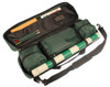 ProTourney Carry-All Plastic Chess Set Black & Ivory Pieces with Green Roll-up Chess Board & Bag
